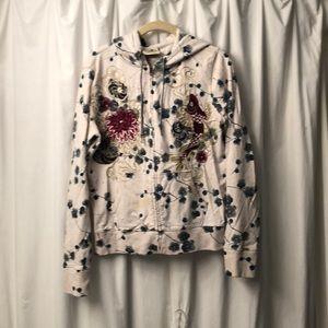 Lucky. Rand hooded embroidered sweatshirt